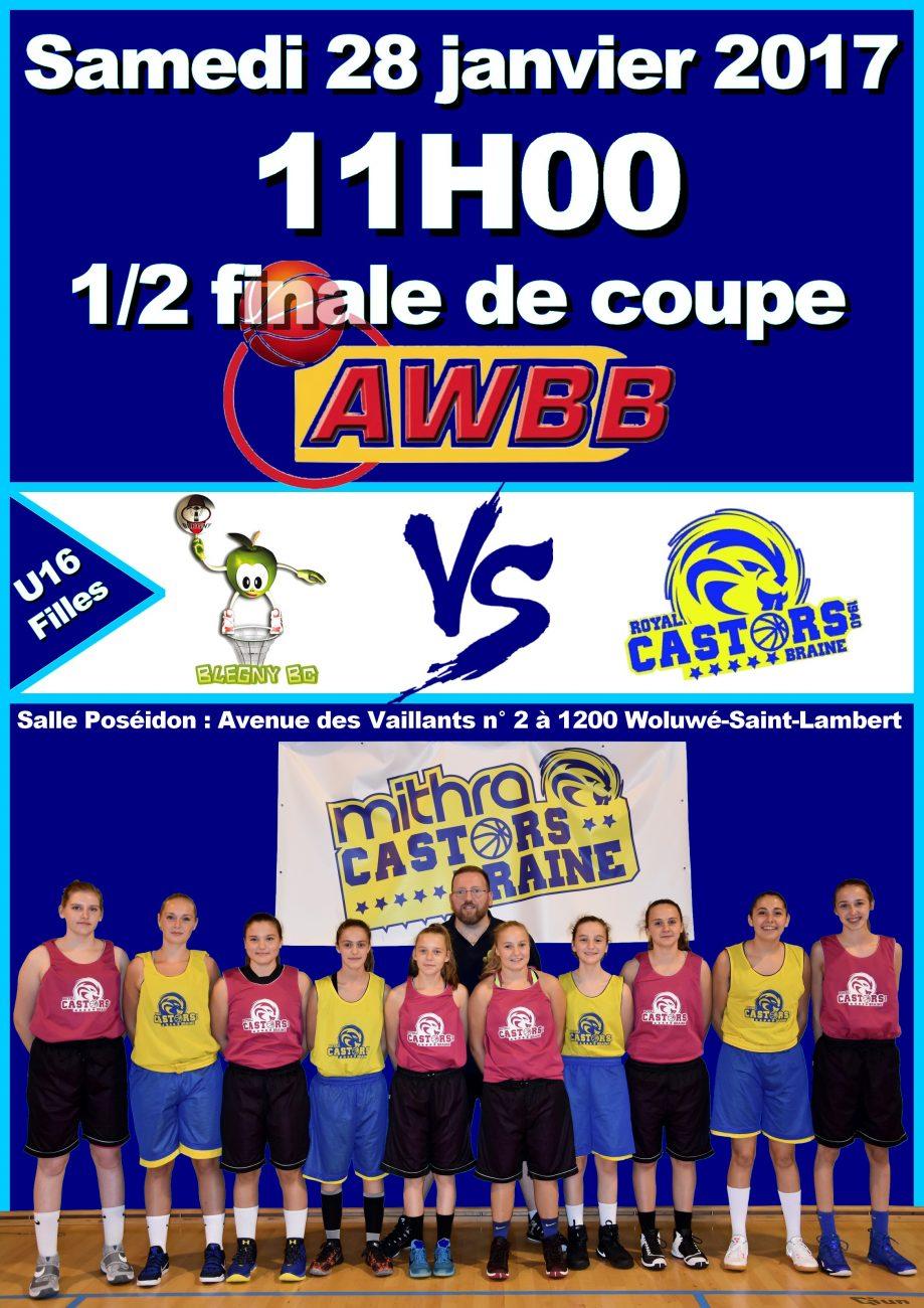 Demi-finale Coupe AWBB