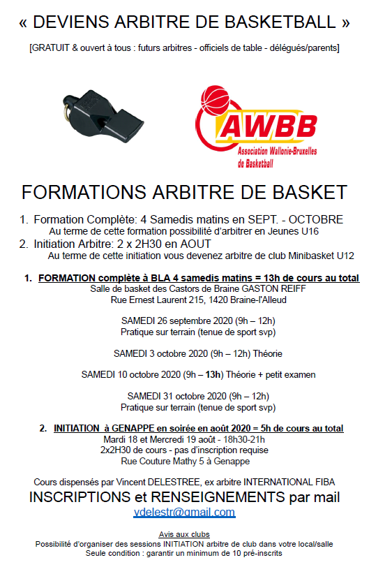 Formation  Arbitres 2020